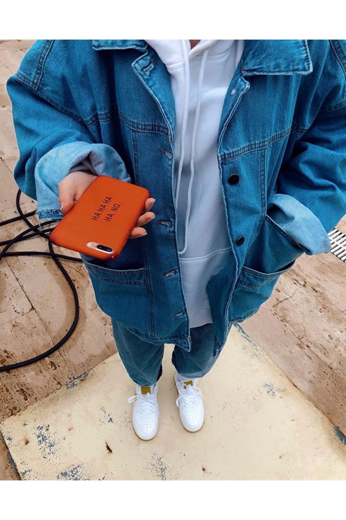 Salaş Kot Ceket - Mavi