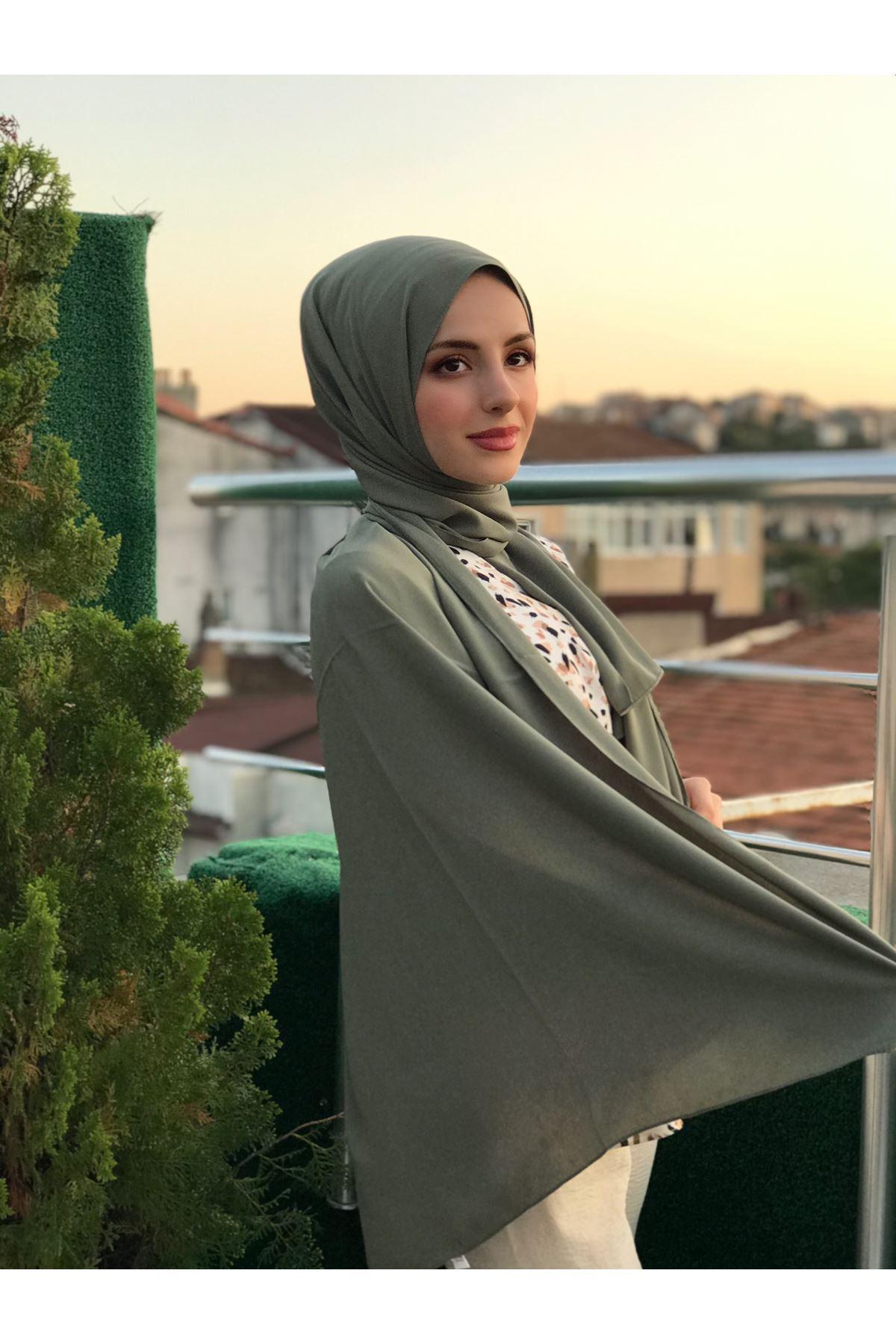 Poly Medine Şal - Haki