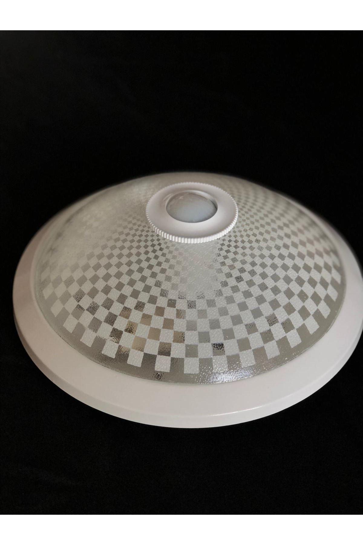 Sensörlü Armatür 2 Duylu Kare Desen- Beyaz