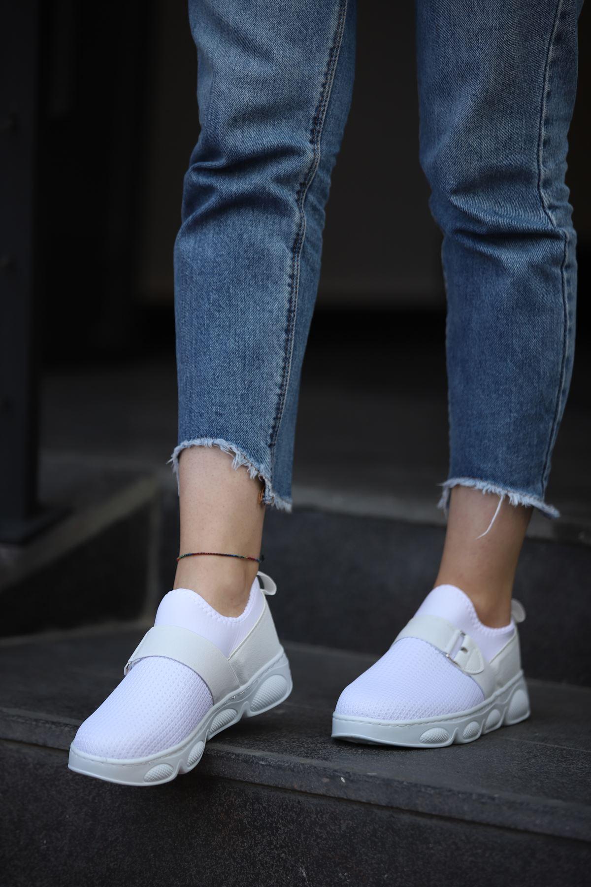 Bez Spor Ayakkabı - Beyaz