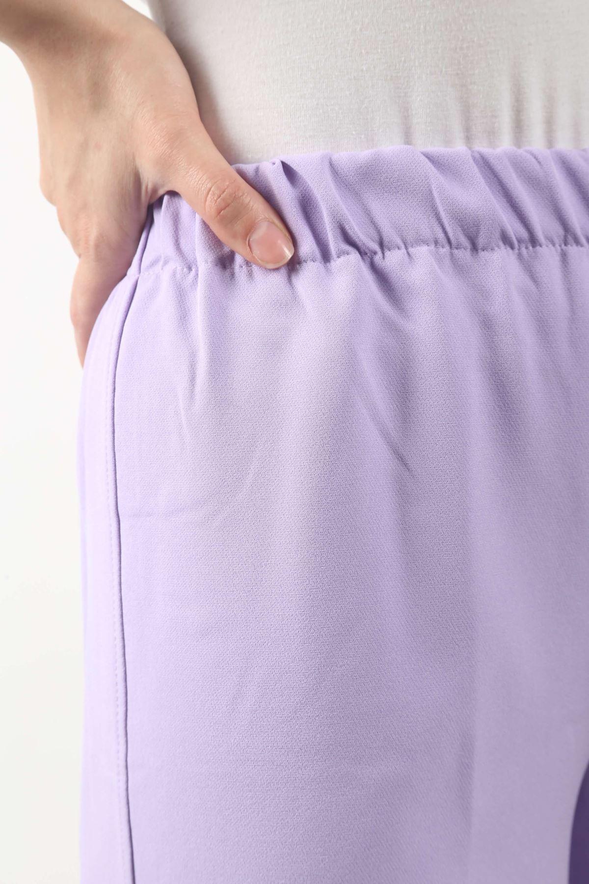 Duble Paça Pantolon - Lila