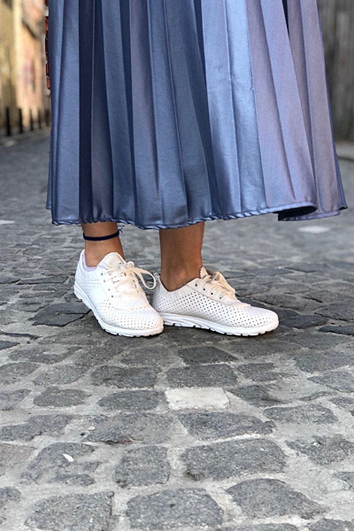 Havalı Spor Ayakkabı - Beyaz