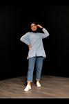 Cepli  Tesettür Gömlek - Buz Mavi